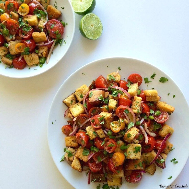 Pico Panzanella~ Thyme for Cocktails