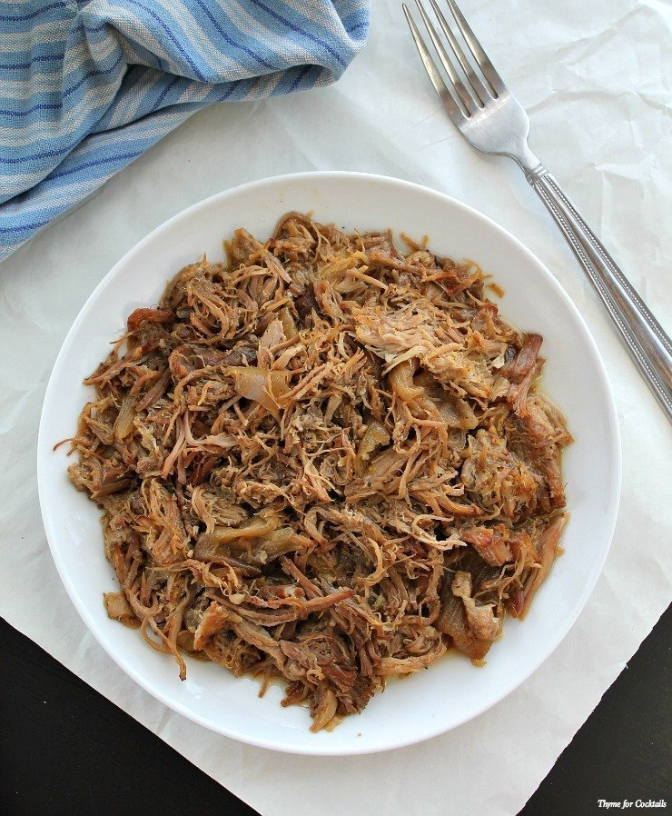 Beer Braised Carnitas~ Thyme for Cocktails
