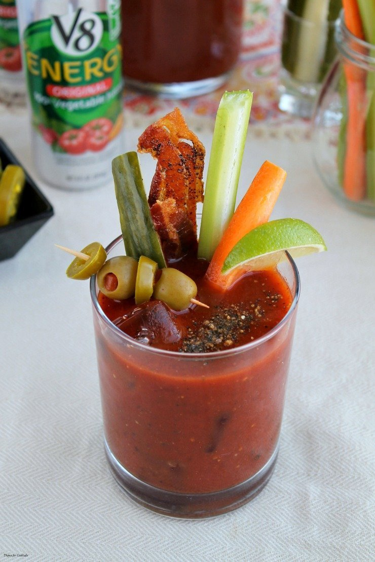 Spicy Southwest Bloody Mary Thyme For Cocktails