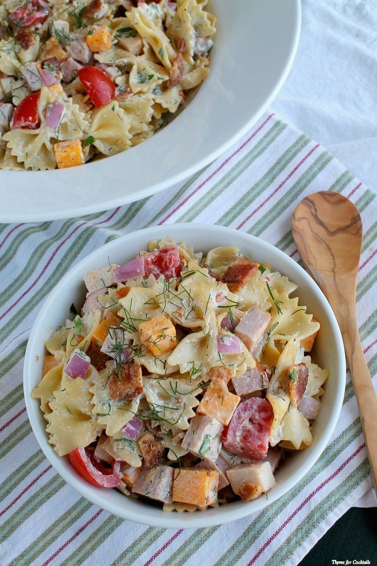 Fully Load Club Pasta Salad~ Thyme for Cocktails