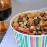 Rosemary White Bean Panzanella Salad~ Thyme for Cocktails