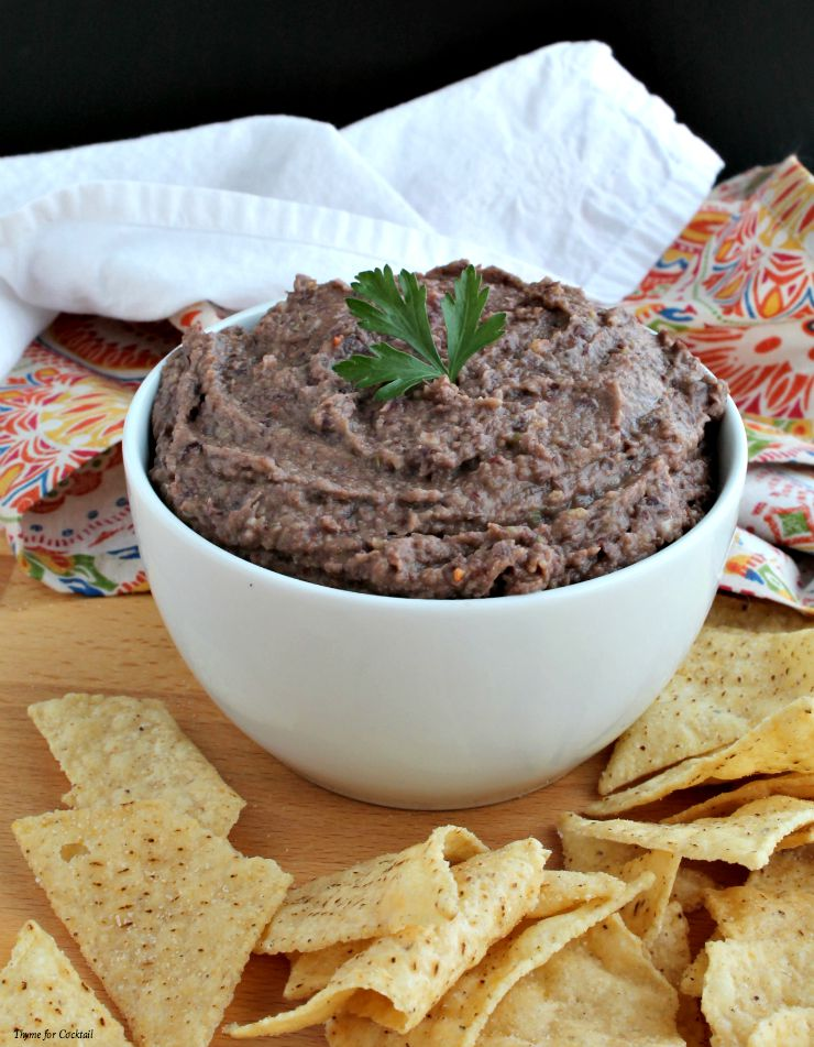 Black Bean Green Chile Hummus~ Thyme for Cocktails