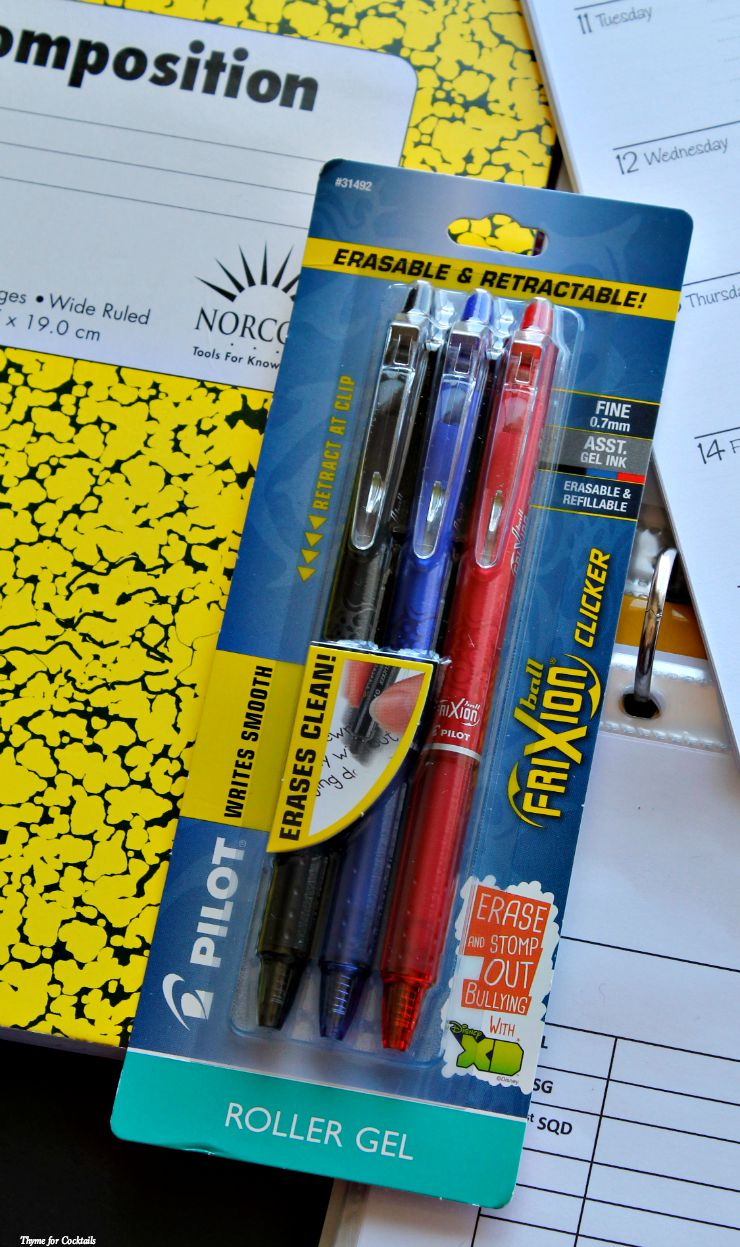Stomp Out Bullying with FriXion Clicker Erasable Gel Ink Pens