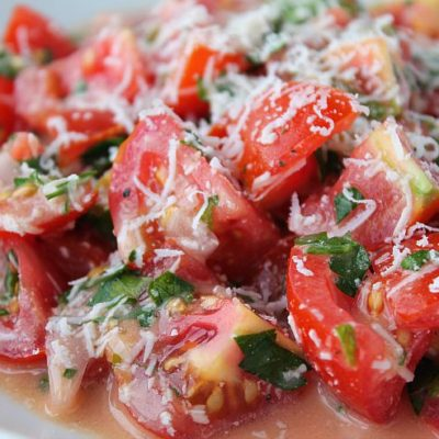Parmesan Ranch Tomato Salad