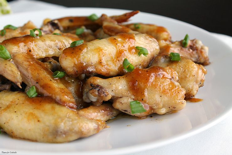 Spicy Maple and Brown Sugar Wings~ Thyme for Cocktails