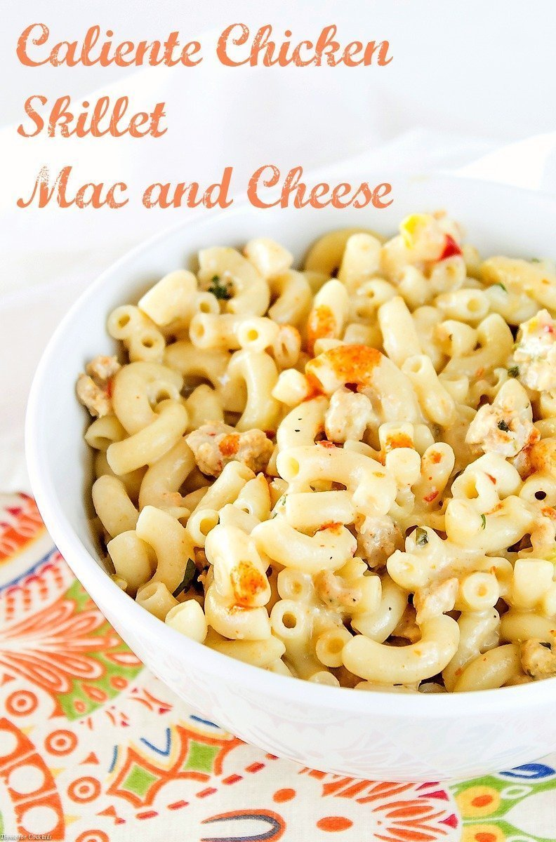 Caliente Chicken Skillet Mac and Cheese-4