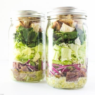Philly Cheesesteak Mason Jar Salads