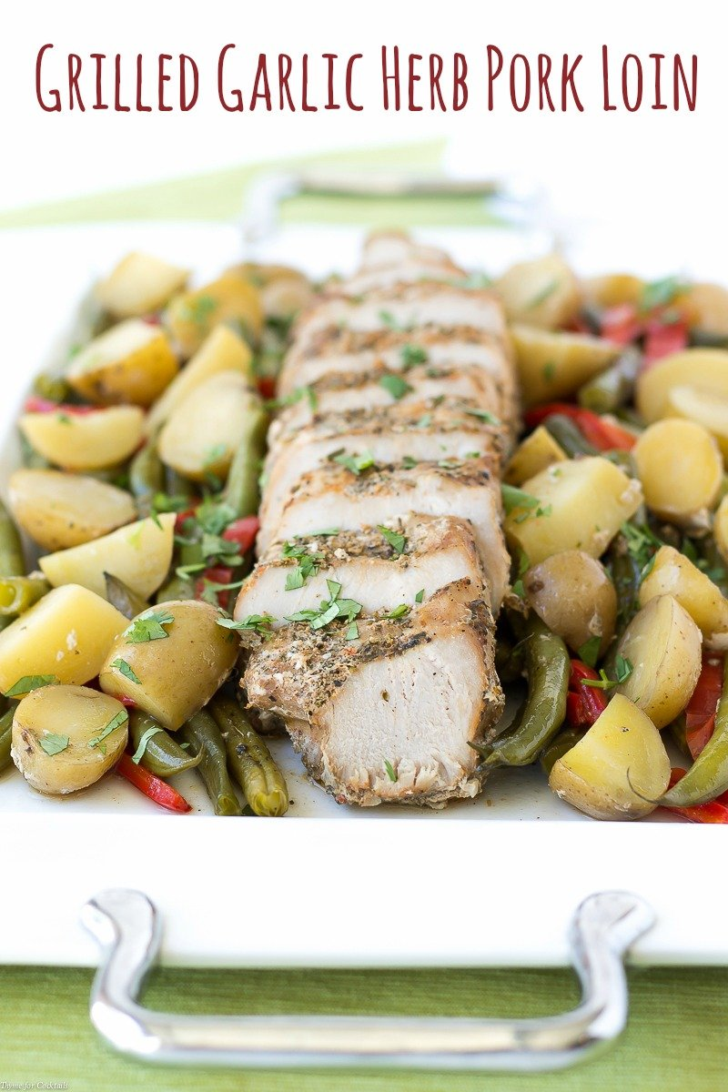 Grilled Garlic Herb Pork Loin
