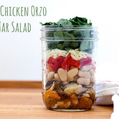 Tuscan Chicken Orzo Mason Jar Salad