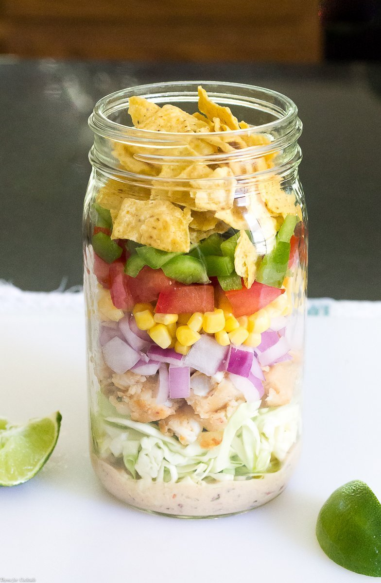 Fish Taco Mason Jar Salads