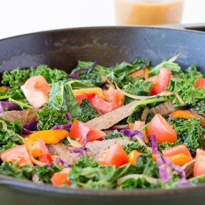 Steak Fajita Kale Skillet Salad