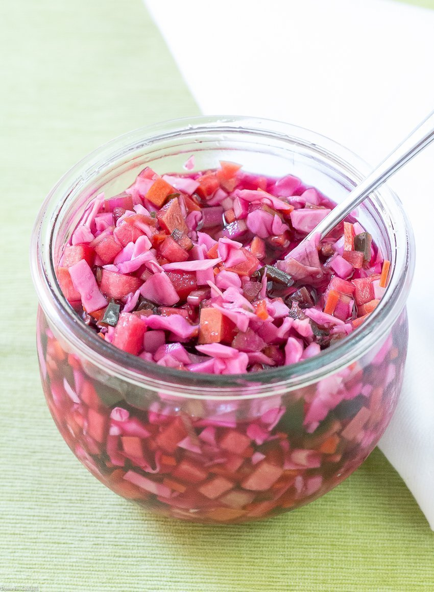 Pickled Peach Coleslaw