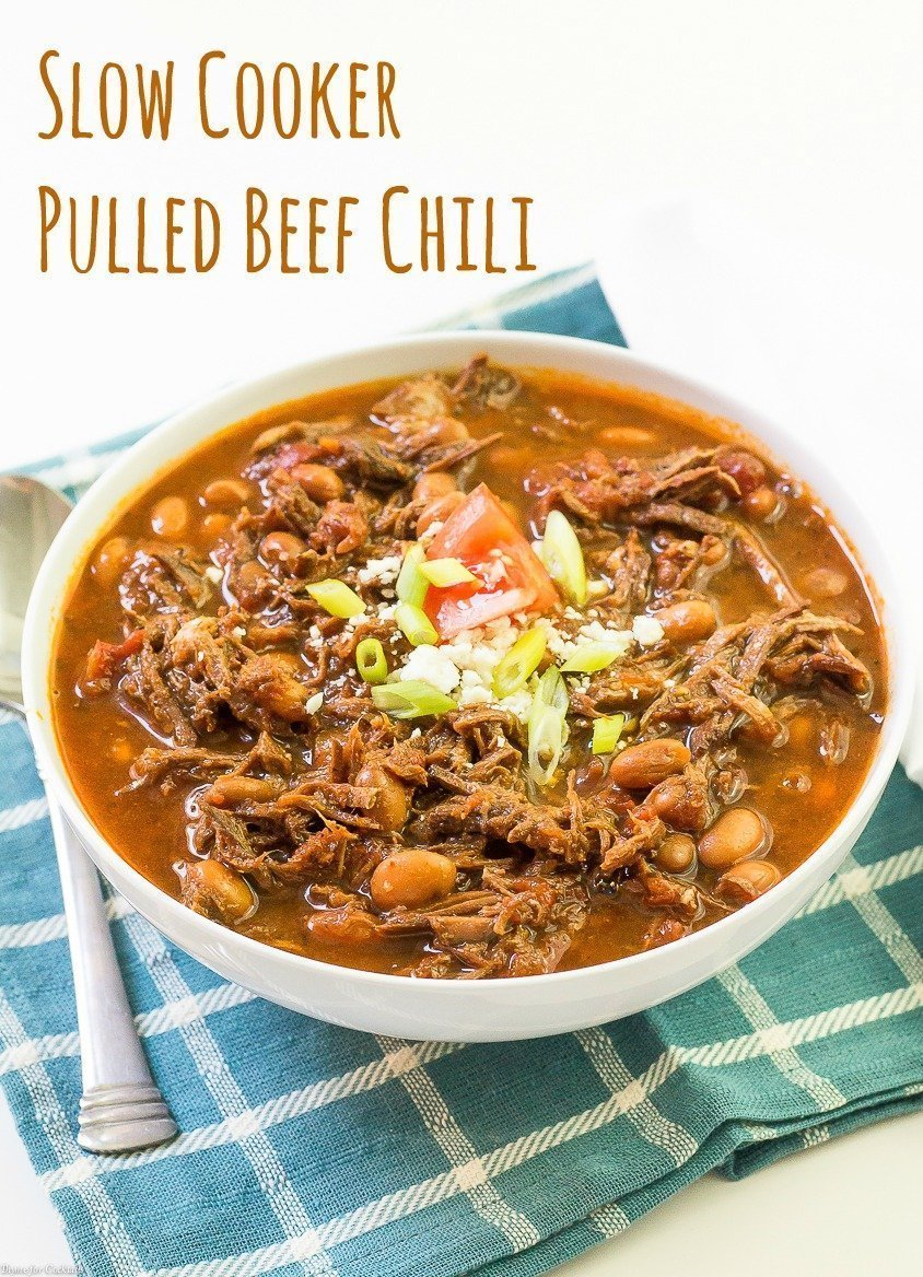 Slow Cooker Pulled Beef Chili