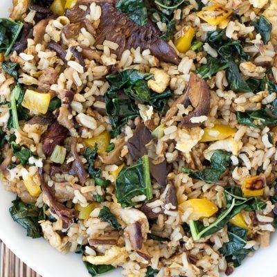 Kale And Mushroom Fried Rice