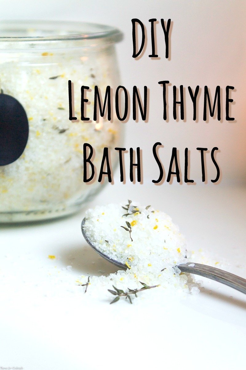 DIY Lemon Thyme Bath Salts