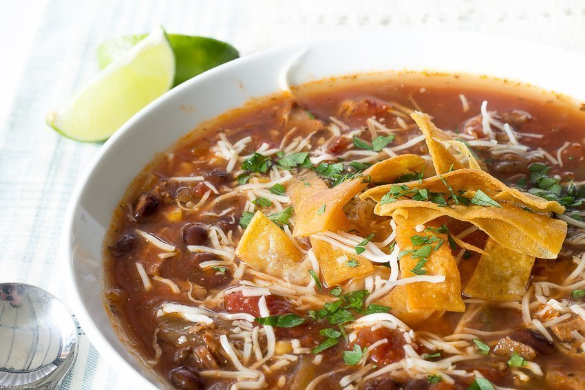 Easy Turkey Tortilla Soup Recipe ~ Thyme for Cocktails
