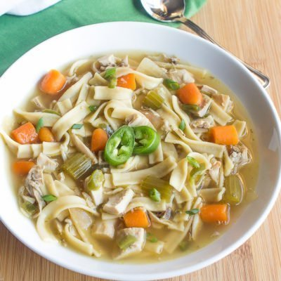 Easy 20 Minute Spicy Rotisserie Chicken Soup