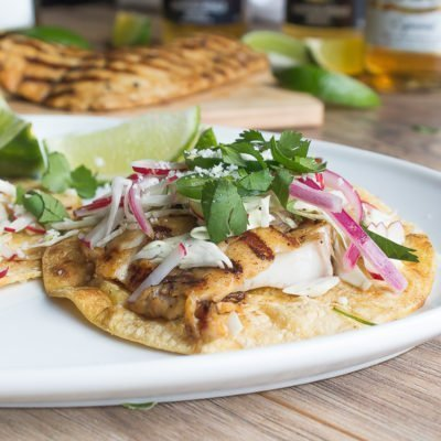Beer Marinated Grilled Fish Tacos