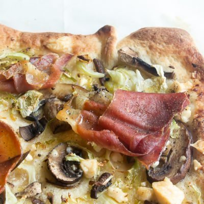 Prosciutto Brussels Sprouts Pizza