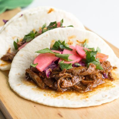 Slow Cooker Pork Mole Tacos