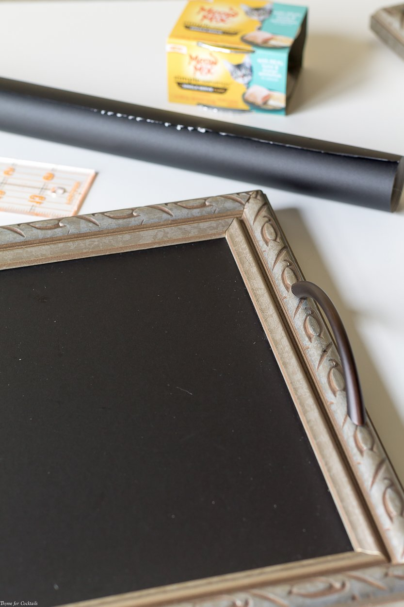 You can easily upscale an old picture into thisDIY Chalkboard Serving Tray tutorial with a few simple items and about 30 minutes of your time!