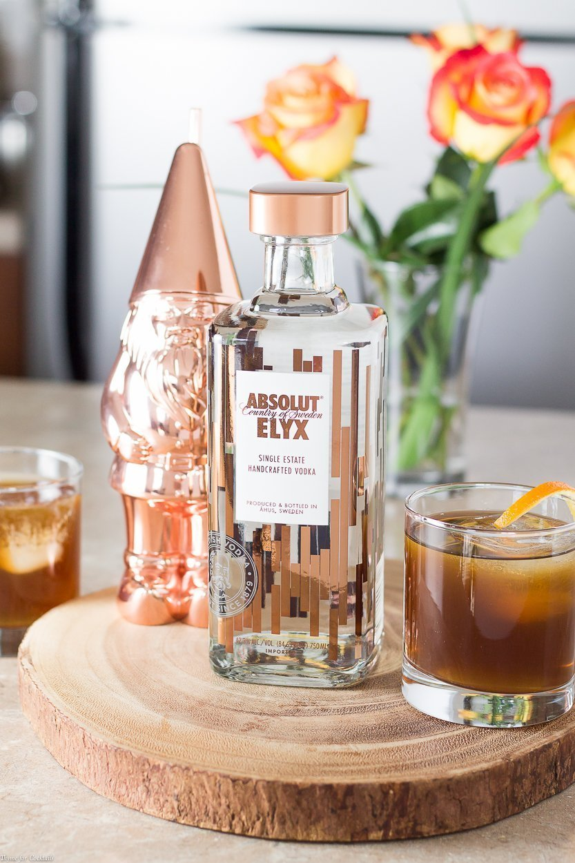 You need to experience the luxury of sipping on a cozy Absolut ElyxCold Fashioned to celebrate the little wins at the end of a busy day.