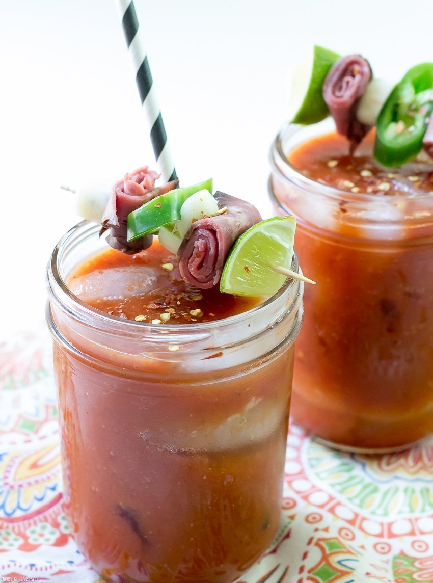 Green Chile Bloody Maria Cocktail