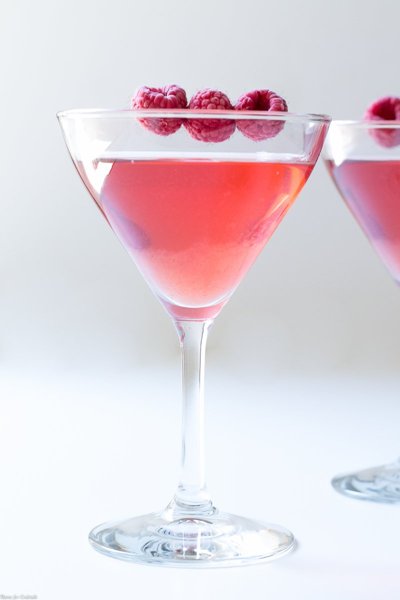 Raspberry Gimlet made with Homemade Infused Gin