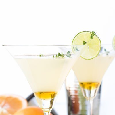 Honeyed Grapefruit Thyme Martini