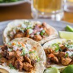 10-Ingredient Tacos al Pastor topped with pineapple salsa