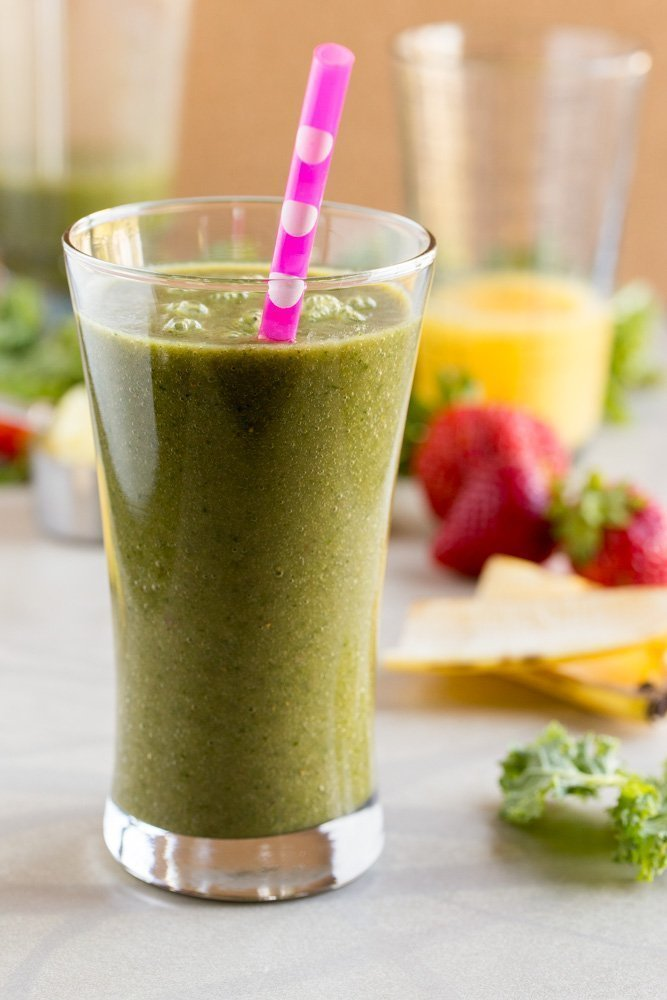 Have you been feeling sluggish and need to jump-start your system? Start your day by sipping on this non-dairy Green Smoothie full of healthy fruits, greens, and plenty of vitamin C.