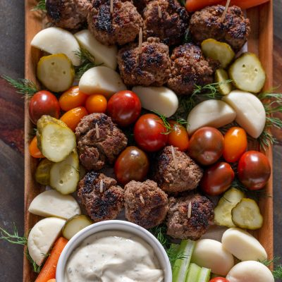4-Ingredient Ranch Meatballs Snack Board